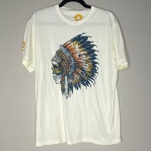 Wash with Souls Skull Indian Chief T-Shirt Large